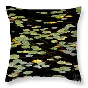 Summer's End Lily Pads Throw Pillow