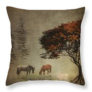 Summers End Throw Pillow by Terry Fleckney