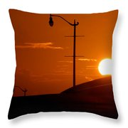 Summers First Day Throw Pillow