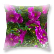 Summers Flowers Throw Pillow