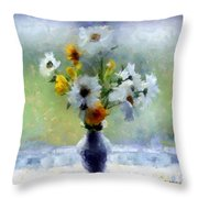 Summerstorm Still Life Throw Pillow