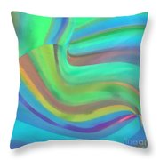 Summertide Throw Pillow by ME Kozdron