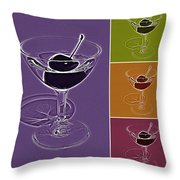 Summertime Cocktail Time Throw Pillow