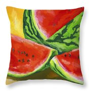 Summertime Delight Throw Pillow