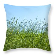 Summertime Grass Throw Pillow