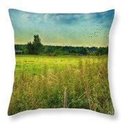Summertime Throw Pillow by Jutta Maria Pusl