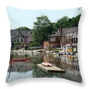 Summertime On Boathouse Row Throw Pillow