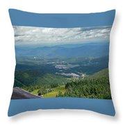 Summertime On Mt. Killington Throw Pillow