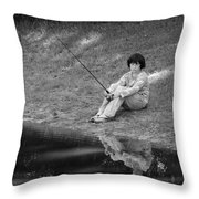 Summertime Reflection Throw Pillow