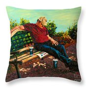 Summertime Siesta Throw Pillow