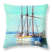 Summertime Will Be Soon And Then We Will Sail Away Again  Throw Pillow
