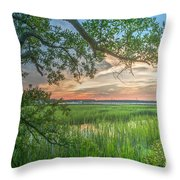 Summertime Sunset Throw Pillow