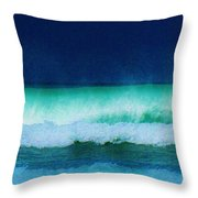 Summertime Surf Throw Pillow