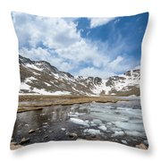 Summit Lake In The Spring Throw Pillow