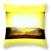 The Sun Also Rises And So Do The Mountains  Throw Pillow