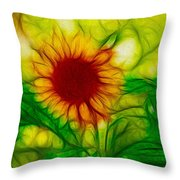 Sun And A Flower Throw Pillow