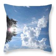 Sun And Cloudburst Throw Pillow