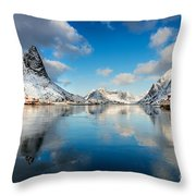 Sun And Ice Reinefjord Throw Pillow