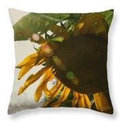 Sun And Sunflower Throw Pillow