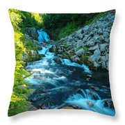 Sun Beam Falls Throw Pillow