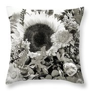 Sun Bunch Throw Pillow