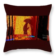 Sun Burn Throw Pillow