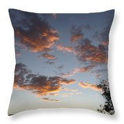 Sun Clouds Throw Pillow