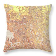 Sun Cow Throw Pillow