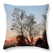 Sun Down Moon Up Throw Pillow