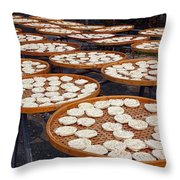 Sun Dried Noodles In Southern Taiwan Throw Pillow