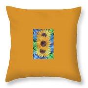 Sun Flower II Throw Pillow