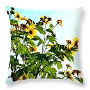 Sun Flowers In The Sun Throw Pillow