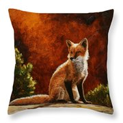 Sun Fox Throw Pillow