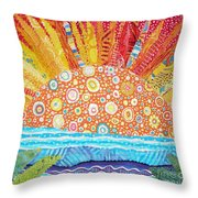 Sun Glory Throw Pillow by Susan Rienzo