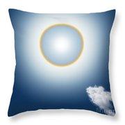 Sun Halo Throw Pillow by Atiketta Sangasaeng