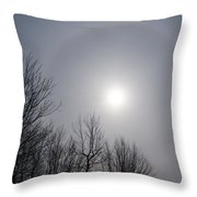 Sun Halo Through The Trees Throw Pillow