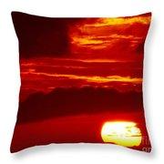 Sun In Descent Throw Pillow