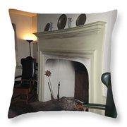 Sun Inn Fireplace Throw Pillow