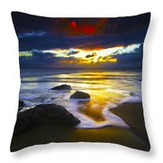Sun Is Setting Throw Pillow
