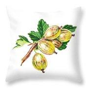 Sun Kissed Gooseberries Branch Throw Pillow