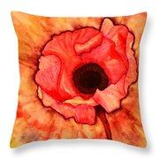 Sun Kissed Poppy Throw Pillow