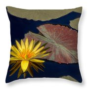 Sun-kissed Water Lily Throw Pillow