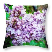 Sun Lit Lilac The Sweet Sign Of Spring Throw Pillow