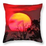 Louisiana Sunset On Fire Throw Pillow