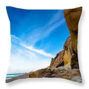 Sun On The Beach Throw Pillow