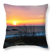 Sun On Water Throw Pillow