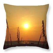 Sun Over The Ocean Throw Pillow