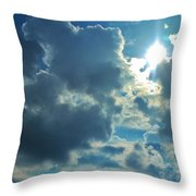 Sun Peeping Out Throw Pillow