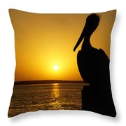 Sun Pelican Throw Pillow