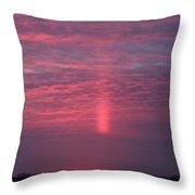 Sun Pillar Horizontal Throw Pillow